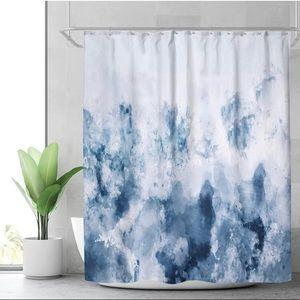 *NWT* Abstract Watercolour Blue Shower Curtain